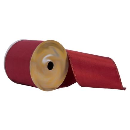 "Sparkle Edge Ribbon 4"" Dark Red"