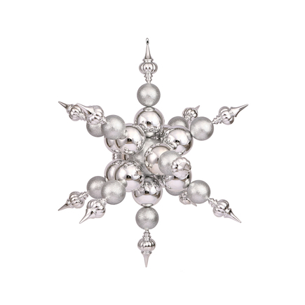 "Belle Giant Snowflake 39"" Silver"