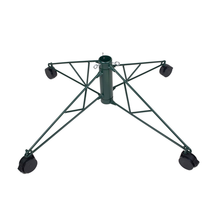 Rolling Metal Tree Stand Green 6.5'-7.5'