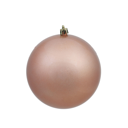 """Rose Gold Ball Ornaments 8"""" Candy Finish Set of 4"""