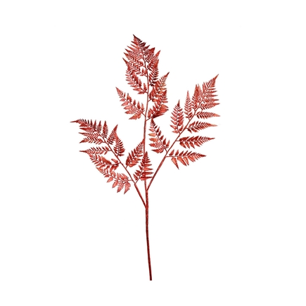 "Fern Spray 42"" Set of 2 Red"