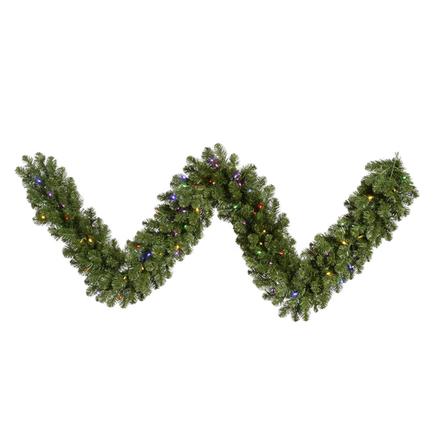 "Sequoia Pine Garland LED Multi 9' x 18"""