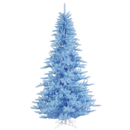5.5' Sky Blue Fir Full w/ LED Lights