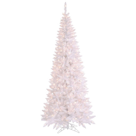 6.5' Snow White Fir Slim w/ LED Lights