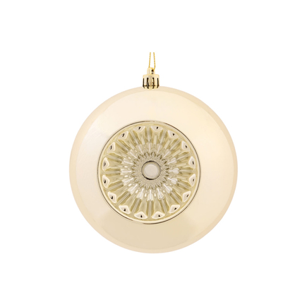 "Solaris Ball Ornament 5.7"" Set of 4 Champagne"