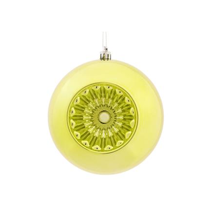 "Solaris Ball Ornament 5.7"" Set of 4 Lime"
