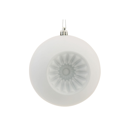 "Solaris Ball Ornament 5.7"" Set of 4 White"