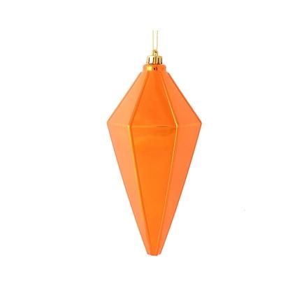 """Sonata Lantern Ornament 7"""" Set of 4 Burnished Orange Shiny"""