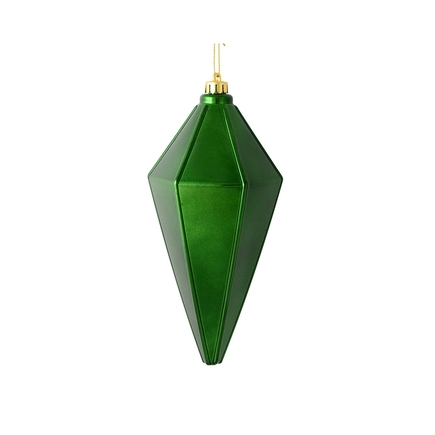"Sonata Lantern Ornament 7"" Set of 4 Emerald Shiny"