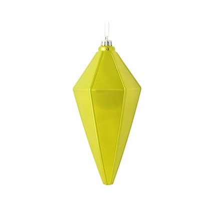"Sonata Lantern Ornament 7"" Set of 4 Lime Shiny"