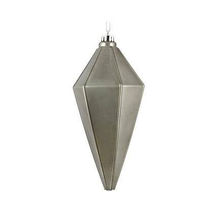 "Sonata Lantern Ornament 7"" Set of 4 Pewter Shiny"