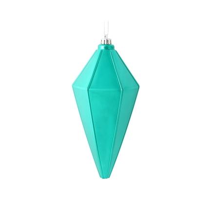 "Sonata Lantern Ornament 7"" Set of 4 Teal Shiny"
