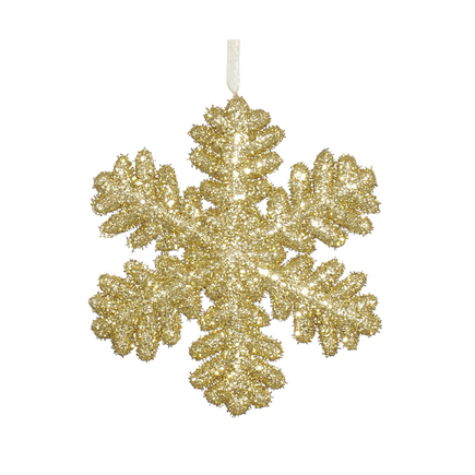 "Sparkle Snowflake 9"" Set of 2 Gold"