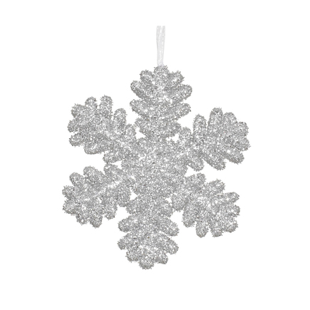 "Sparkle Snowflake 9"" Set of 2 Silver"