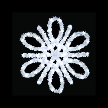 Spiral Snowflake Pole Mount 4.5'
