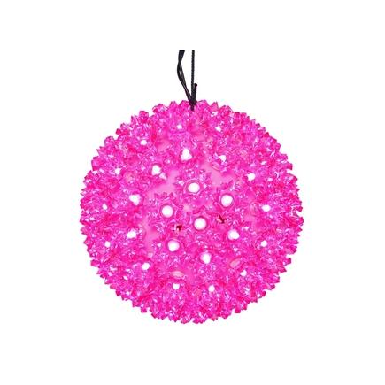 "Starlight Sphere LED Pink 10"""