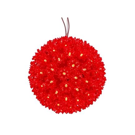"""Starlight Sphere LED Red 7.5"""""""