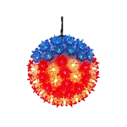 Starlight Sphere LED Red/White/Blue 7.5""