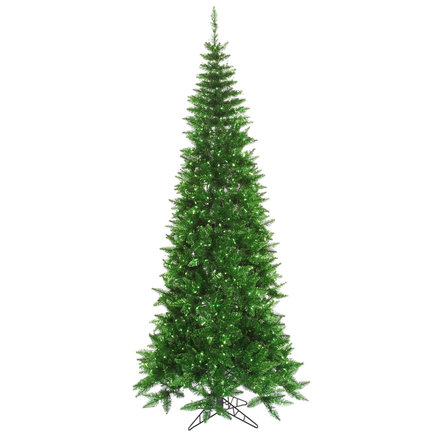 4.5' Vintage Green Fir Slim w/ Green Lights