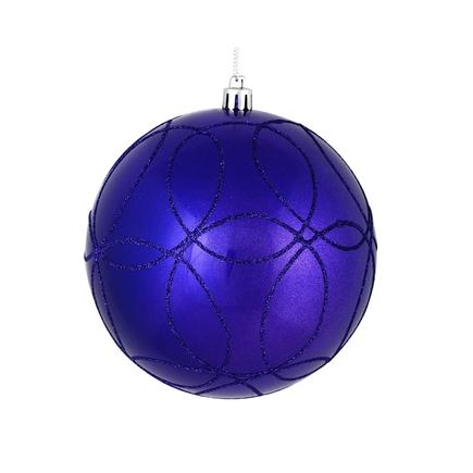 "Viola Ball Ornament 4"" Set of 4 Purple"