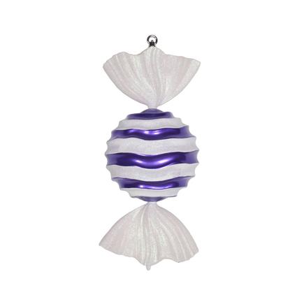 "Wavy Stripe Ornament 18.5"" Set of 2 Purple"