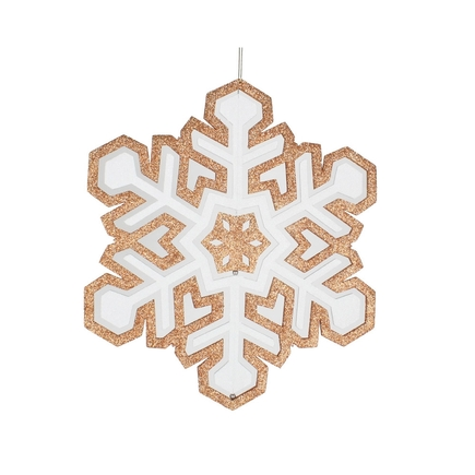 "Winter Snowflake 17"" Rose Gold"