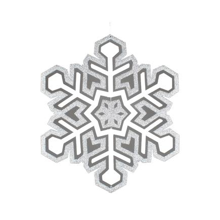 "Winter Snowflake 17"" Silver"