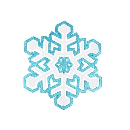 "Winter Snowflake 17"" Turquoise"