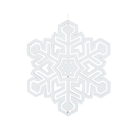 "Winter Snowflake 25"" White"