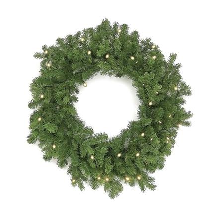"""Balsam Fir Wreath LED Battery 30"""""""