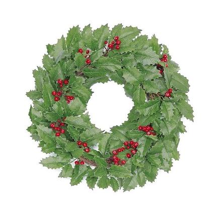 """Christmas Holly Wreath 20"""""""