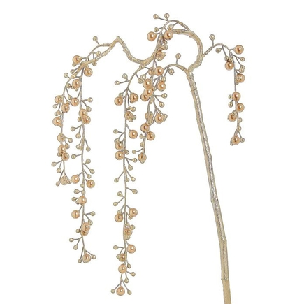 "Weeping Pearl Spray 36"" Set of 6 Rose Gold"