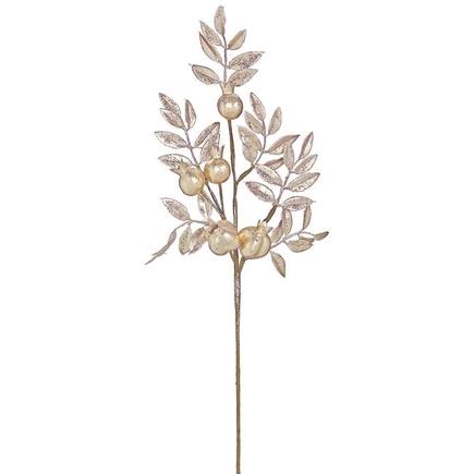 "Glitter Pomegranate Branch 28"" Set of 12 Rose Gold"