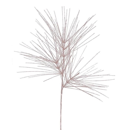 "Glitter Pine Branch 41"" Set of 12 Rose"