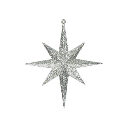 "Large Christmas Glitter Star 15.75"" Set of 2 Champagne"