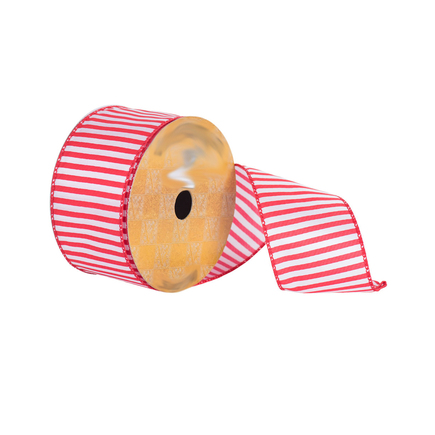 "Peppermint Stripe Ribbon 2.5"""