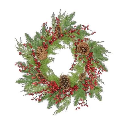 """Aspen Christmas Wreath 24"""""""