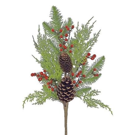 """Aspen Christmas Branch 20"""" Set of 12"""