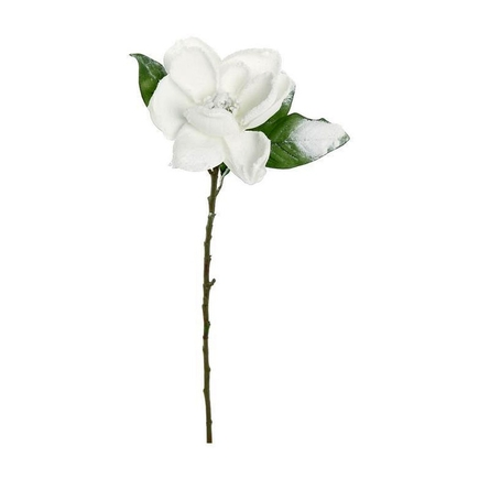 "Frosted Magnolia Bloom 29"" Set of 12 White"