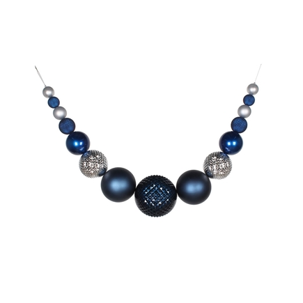 "Zoe Ball Garland 76"" Midnight/Silver"