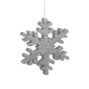 "Outdoor Snowflake 12"" Set of 2 Silver"
