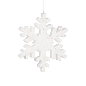 "Outdoor Snowflake 8"" Set of 2 White"