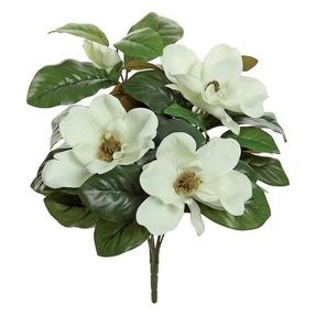 "Magnolia Blossoms 17"" Set of 12 Cream"