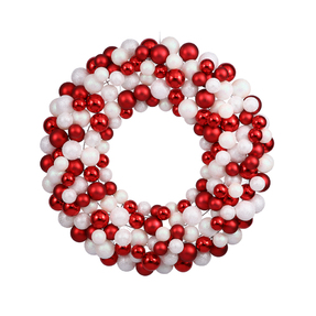 "Christmas Ball Ornament Wreath 24"" Candy"