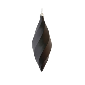 "Arielle Drop Ornament 8"" Set of 6 Black Matte"