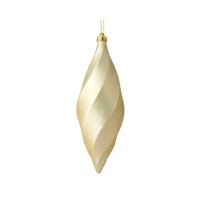 "Arielle Drop Ornament 8"" Set of 6 Champagne Matte"