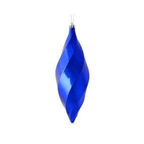 "Arielle Drop Ornament 8"" Set of 6 Cobalt Shiny"