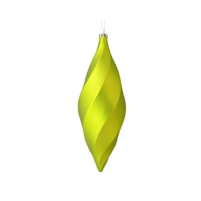 "Arielle Drop Ornament 8"" Set of 6 Lime Matte"