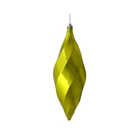 "Arielle Drop Ornament 8"" Set of 6 Lime Shiny"