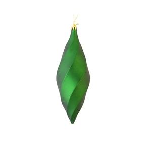 "Arielle Drop Ornament 8"" Set of 6 Emerald Matte"